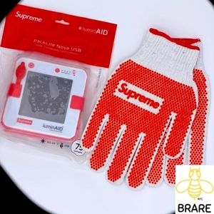 SUPREME LUMINAID PACKLITE SS18 and Grip Gloves Set